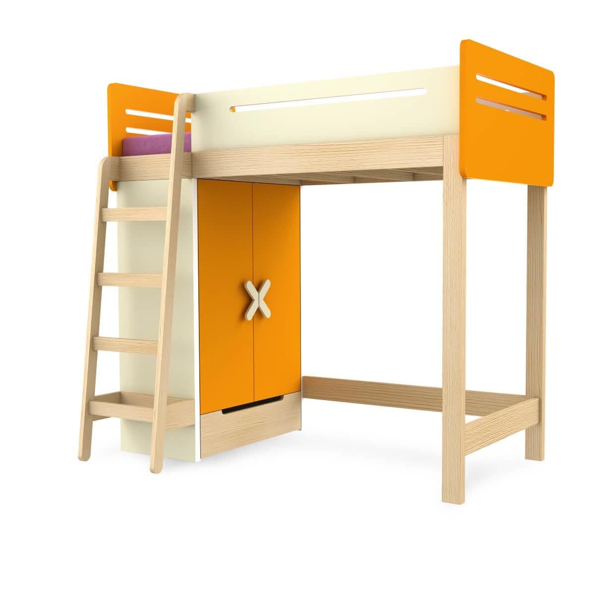 pat din lemn supraetajat copii