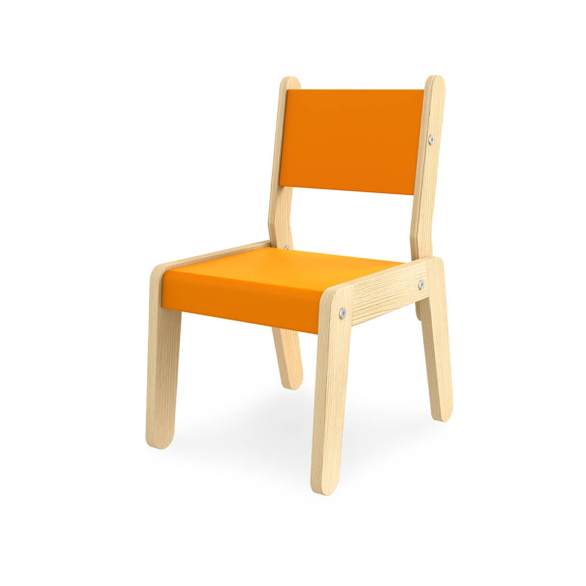 scaunel din lemn masiv