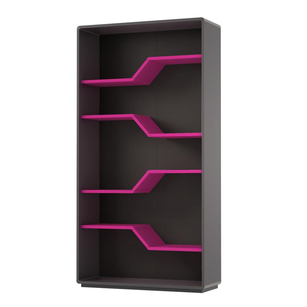 biblioteca cu insertii roz
