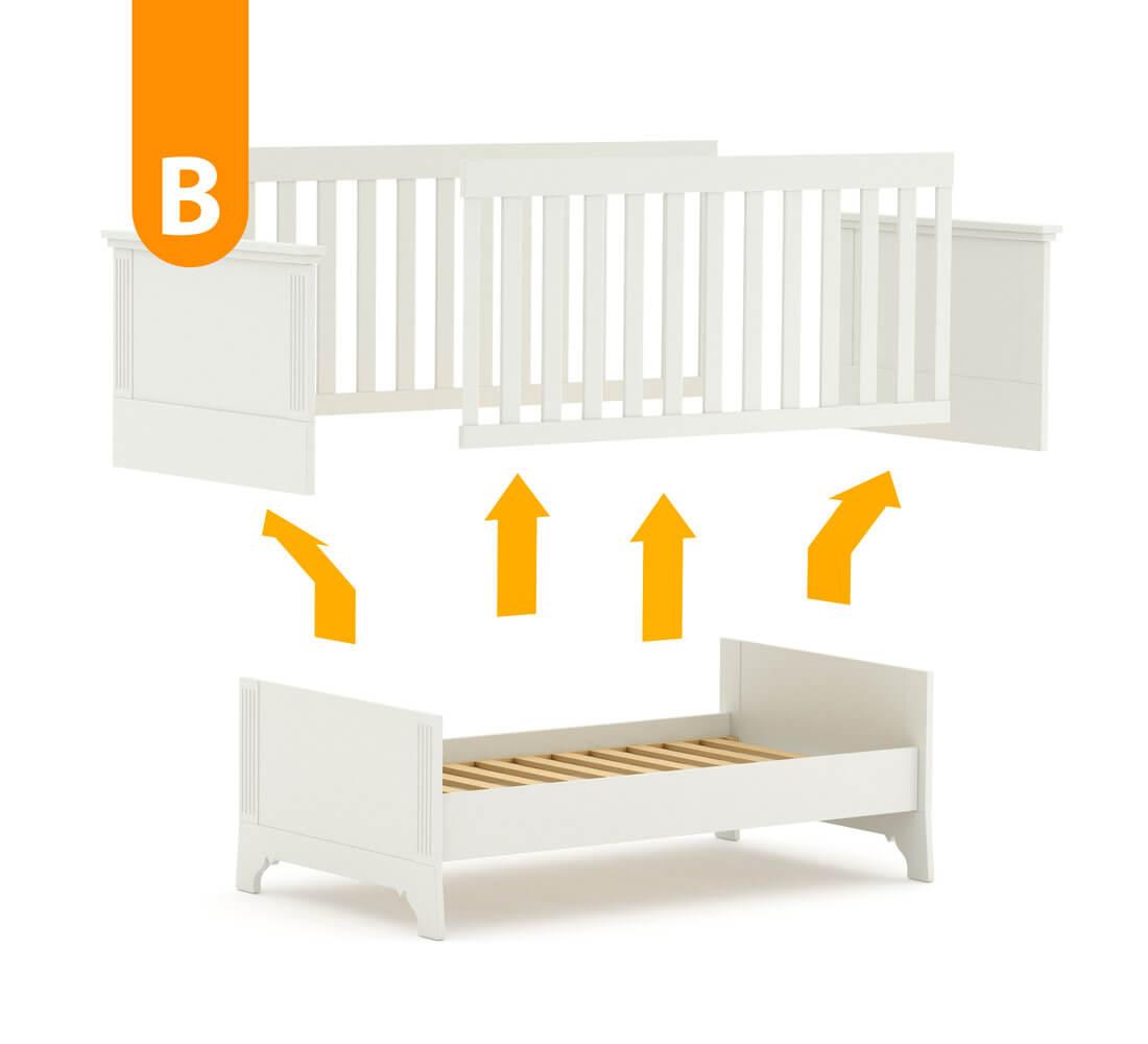 patut bebe transformabil lemn