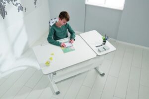 birou alb reglabil copii
